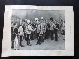 The Graphic 1897 Antique Print. King of Siam's Visit to London